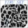 Telas impressas da forma do estiramento do mergulhador do leopardo teste padrão preto e branco, tela do vestuário
