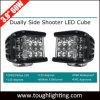 EMC aprobado, de protección IP68 de 3,9 pulgadas de haz ancho 60W LED CREE Dually Shooter lateral de las luces de cubo