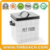 estaño del almacenaje del envase del metal del alimento de animal doméstico 5.5L para el gato/el perro