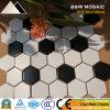 Azulejo de mosaico de cerámica blanco del material de construcción y negro hexagonal y azulejo de suelo