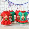 Costume 2018 de robe de Noël de renne d'animal familier de couche de crabot de Noël