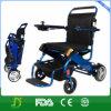 Batteria di litio esterna che piega sedia a rotelle elettrica per gli handicappati