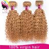 Extensão brasileira do cabelo humano da onda Kinky de 27 cores
