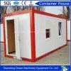 Casa de acero prefabricada del envase del diseño de lujo del panel de emparedado del edificio de la estructura de acero para la oficina