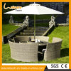 Сада Обедать-Таблицы Brown стул Wicker/ротанга мебели большого напольный и комплект таблицы