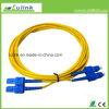 Cordon de connexion de fibre optique de duplex de mode unitaire de Sc/Upc-Sc/Upc