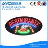 Muestra oval del restaurante LED de la protección del medio ambiente de Hidly