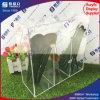 Support de balai acrylique de renivellement de 3 compartiments avec le couvercle