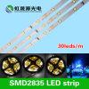 C.C. 12V/24V flexível do competidor da luz de tira 30LEDs/M do diodo emissor de luz do preço SMD2835