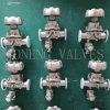 Санитарной мембранный клапан зажатый нержавеющей сталью ручной