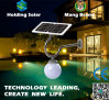 Monocrystal Panel Solar LED Wall Light com design patenteado