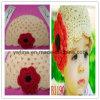 Ручной работы шлем цветка w вязания крючком для детей