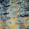 Конструкция пробивая, шифоновая конструкция вышивки вышивки Sequin ткани