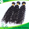 7A 브라질 Deep Wave 100%년 Virgin Human Hair Weft