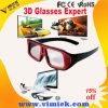 Passive Polarized TVのための2016方法Plastic 2 Color Frame Pink Black Polarized Passive Circular 3D Glasses