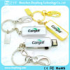 USB Flash Drive de Custom Epoxy Sticker Logo Metal da forma (ZYF1137)