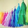 Papel de seda de la borla de Garland para la decoración del banquete de boda