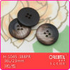 Il Polyester 4-Holes Printed Imitation Wood Button