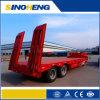 2 Semi Aanhangwagen van het Bed van Lowbed 60tons van assen de Hydraulische Lage