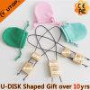Presente da promoção com a vara instantânea de madeira do USB do saco de veludo (YT-8120)