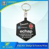 PVC molle Keychain di plastica di stile caldo su ordinazione del fornitore con il marchio (XF-KC-P02)