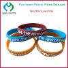 Wristband di gomma sottile del silicone del braccialetto di modo per il partito