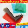 Hoja del plástico del policarbonato de Bayer del panel del policarbonato del material para techos
