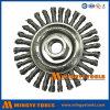 Balais larges de roue de face/roue plate de fil d'acier de noeud de torsion