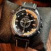 Reloj del cuarzo de los hombres grandes luminosos de la dial de la manera