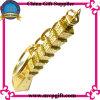 Llavero de metal 3D con regalo de anillo de color de oro