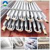 Evaporador de aluminio de la pipa de la fila de tres aletas