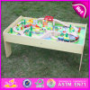 2015 Wooden brandnew Train Toy con Track, Pretend Play Wooden Train Toy, Wood Train Toy con Track per Baby W04c030