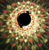 Les Vitraux conduit intérieur extérieur de la rue lumière solaire coloré Jar