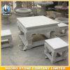 옥외 Stone Square Shape Table 및 Chairs 정원 Decoration