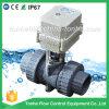 Di valvola a sfera motorizzata azionatore elettrico bidirezionale del PVC di pollice del Ce IP67 3/4