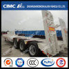 3axle Lowbed Semi Trailer Without Cover su Tire