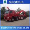 이동할 수 있는 판매를 위한 트럭에 의하여 거치되는 기중기를 적재해 Sinotruk 각자