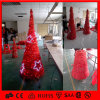 빨간 LED 별 빛 크리스마스 훈장 주제 나무