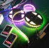 Bande accessible flexible de la carte LED de noir de TM1812 SMD