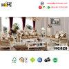 Mobiliario clásico europeo Genuinr sofá de cuero 1+2+3 (HC828)