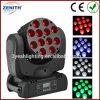 10wx12 축하를 위한 소형 LED 광속 RGBW 4in1 LED 이동하는 맨 위 단계 빛