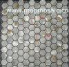 Mosaico natural hexagonal de Shell del río (SSSM-020)