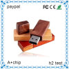 Simples USB Flash Drive Rodada Custom madeira USB Flash Drive