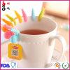 Goma de silicona colorida Cute Tea Coffer Glass Cuo marcas para la fiesta