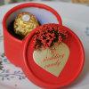 Chocolate tamaño pequeño que embala alrededor de la caja de papel