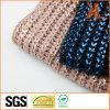 Акриловый военно-морской флот/розовый связанный шарф с горячим серебром штемпелюя фольги