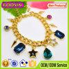 Armband van de Charme van het Kristal van de Saffier van de Dame van de manier de Oostenrijkse/de Gouden Geplateerde Armband van de Rozentuin van het Kristal