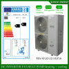 Sérvia / Suécia Winter-25c Area Floor House Heating + 55c DHw Auto-Defrost Poupe 70% de energia 12kw / 19kw / 35kw / 70kw Monobloc Evi Air para água aquecedor de bomba de calor