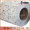Feuille en aluminium enduite d'un préenduisage d'intérieur de granit