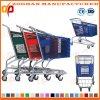 Trole plástico colorido da compra de mantimento do metal do fio da grande capacidade (Zht216)